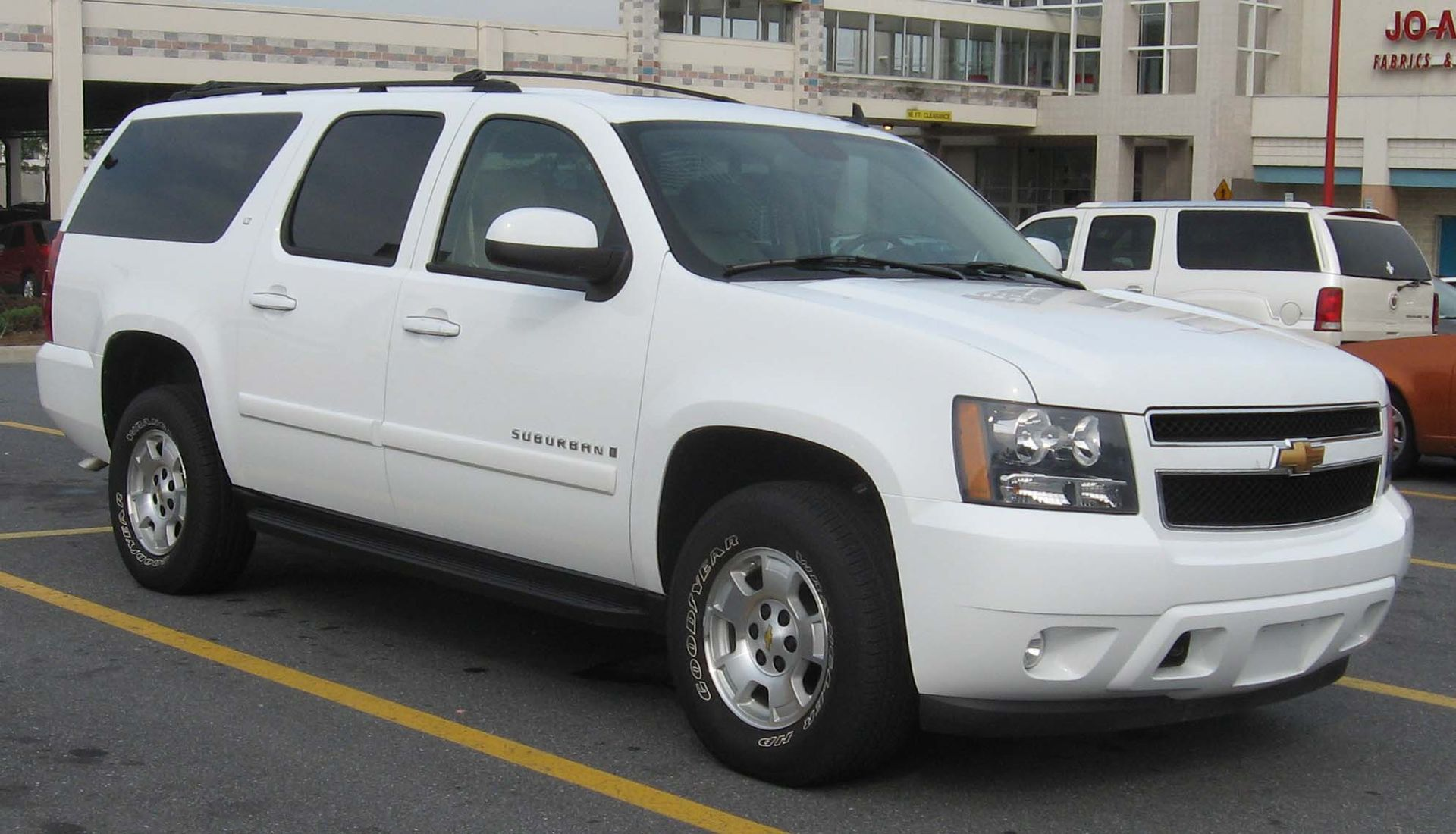 A parked Chevrolet Suburban
