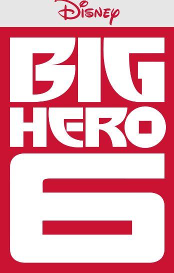 Big Hero 6 movie poster, Disney logo, red background